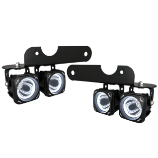 Vision X Lighting - VISION X 2017+ FORD RAPTOR LED HALO FOG LIGHT KIT INCLUDING 4 X XIL-OPH115 OPTIMUS HALO LIGHTS, BRACKETS AND WIRING - Image 1