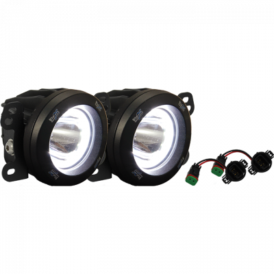 Vision X Lighting - VISION X 18+ JEEP JL METAL BUMPER FACTORY UPGRADE BRACKET KIT WITH CG2-CPM310 LIGHTS - Image 1