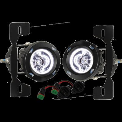Vision X Lighting - VISION X 18+ JEEP JL METAL BUMPER FACTORY UPGRADE BRACKET KIT WITH CG2-CPM310 LIGHTS - Image 2