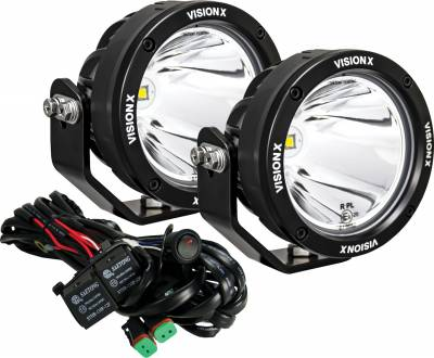 """Vision X Lighting - VISION X PAIR OF 4.7"""" SINGLE SOURCE 40 WATT CANNON CG2 LIGHTS INCLUDING HARNESS USING DT CONNECTORS - Image 1"""