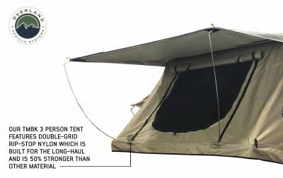 Overland Vehicle Systems - TMBK 3 Roof Top Tent - Tan Base With Green Rain Fly - Image 5