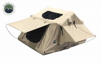 Overland Vehicle Systems - TMBK 3 Roof Top Tent - Tan Base With Green Rain Fly - Image 2