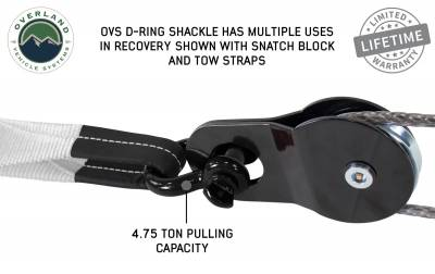 """Overland Vehicle Systems - Recovery Shackle 3/4"""" 4.75 Ton - Black - Image 2"""