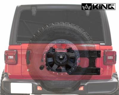 Overland Vehicle Systems - Baumer Heavy Duty Tire Carrier - Wrangler JL 2018> - Image 4