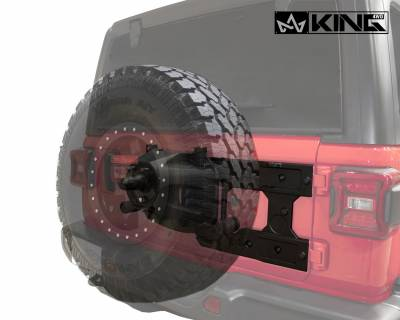 Overland Vehicle Systems - Baumer Heavy Duty Tire Carrier - Wrangler JL 2018> - Image 7