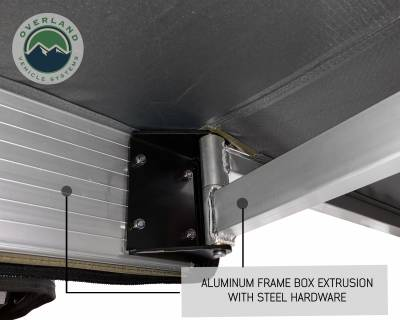 Overland Vehicle Systems - Nomadic Awning 270 - Dark Gray Cover With Black Transit Cover - Driver Side & Brackets - Image 4