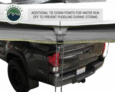 Overland Vehicle Systems - Nomadic Awning 270 - Dark Gray Cover With Black Transit Cover - Driver Side & Brackets - Image 7