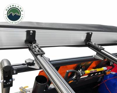 Overland Vehicle Systems - Nomadic Awning 270 - Dark Gray Cover With Black Transit Cover - Driver Side & Brackets - Image 8