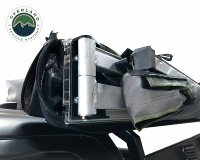 Overland Vehicle Systems - Nomadic Awning 270 - Dark Gray Cover With Black Transit Cover - Driver Side & Brackets - Image 9