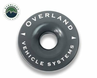 "Overland Vehicle Systems - Recovery Ring 4.00"" 41,000 lb. Gray With Storage Bag - Image 1"