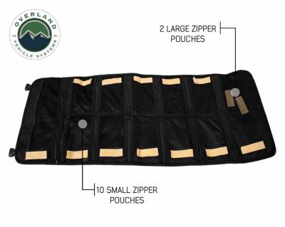Overland Vehicle Systems - Rolled Bag First Aid - #16 Waxed Canvas - Image 1
