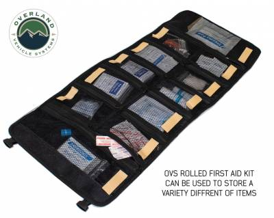 Overland Vehicle Systems - Rolled Bag First Aid - #16 Waxed Canvas - Image 2
