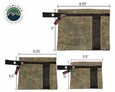 Overland Vehicle Systems - Small Bags - 3 Individual  #12 Waxed Canvas - Image 2