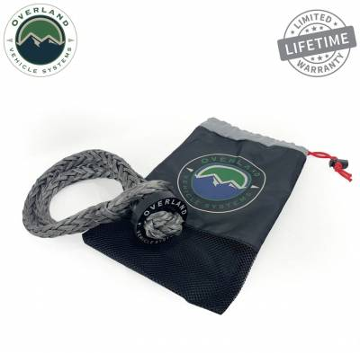 """Overland Vehicle Systems - Soft Shackle 5/8"""" 44,500 lb. With Collar - 22"""" With Storage Bag - Image 3"""