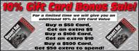 Desert Rat 10% Bonus Gift Card Promotion