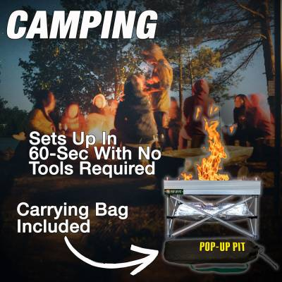 Fireside Outdoor - Fireside Outdoor Pop-Up Fire Pit & Heat Shield Combo - Image 4