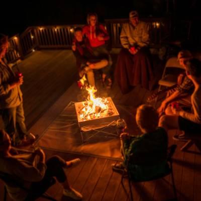 Fireside Outdoor - Fireside Outdoor Pop-Up Fire Pit & Heat Shield Combo - Image 7
