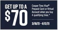 Cooper Tire Spring 2021 Rebates