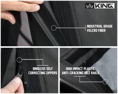 King 4WD - King 4WD Premium Replacement Soft Top, Black Diamond With Tinted Windows, Jeep Wrangler Unlimited JK 4 Door 2010-2018 - Image 4